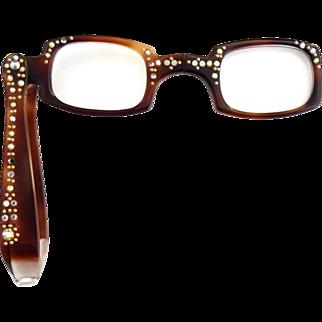 Vintage reading glasses rhinestone studded frame