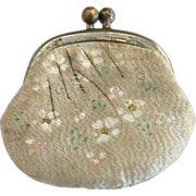 Antique leather doll coin silk purse