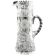 American cut glass tankard pitcher beer champagne