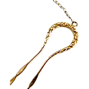 Art Nouveau hair pin scroll design pince nez