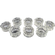 US Glass antique salt dips salt cellars Daisy Button