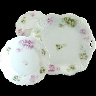 Antique Elysee porcelain ice cream platter Ohme Germany