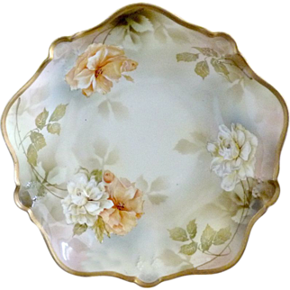 RS Prussia bowl wild roses poppies plate 204