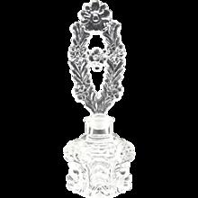 Vintage glass perfume bottle daisy stopper