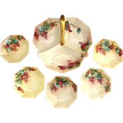 CS Prussia berry set hand painted porcelain c. 1912