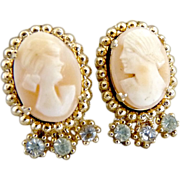 Coro screw back cameo earrings