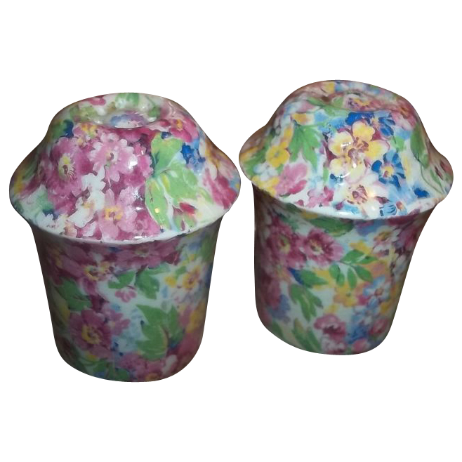 Made In England Chintz Salt & Pepper Shakers