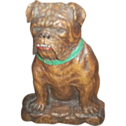 Unique Vintage Novelty Durawood Bull Dog Bulldog Brush or Match Holder - Red Tag Sale Item