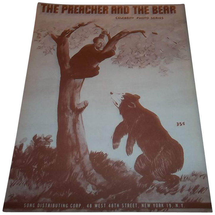 The Preacher And The Bear - Joe Arizonia - The Spotlighters  A.N.C. 338