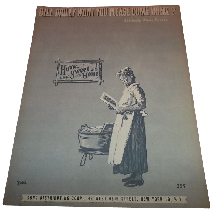 Sheet Music Bill Bailey Won't You Please Come Home Nita Del Campo