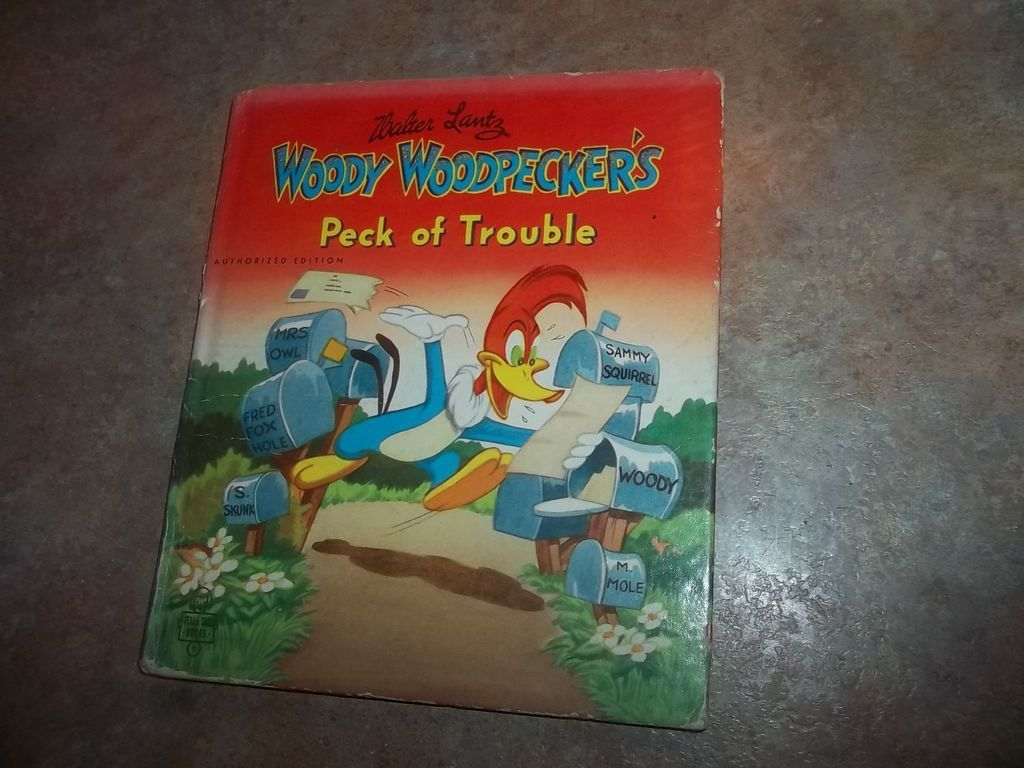 Water Lantz Woody Woodpecker Book Peck Of Trouble