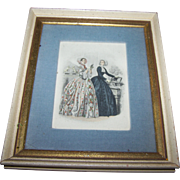 Vintage Collectible Ladies Of Fashion Print Fleck Bros. New York Home Decor Wall Art
