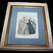 Vintage Collectible Ladies Of Fashion Print Fleck Bros. New York Home Decor Wall Art