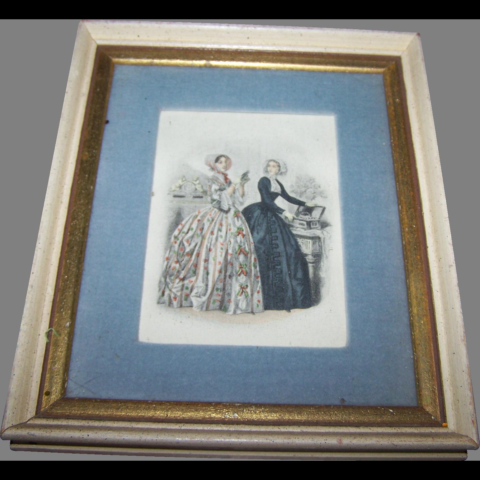 Vintage Collectible Ladies Of Fashion Print Fleck Bros. New York