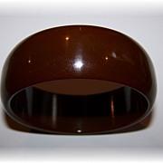 Chunky Brown Vintage Bakelite Bangle Bracelet Tests Positive