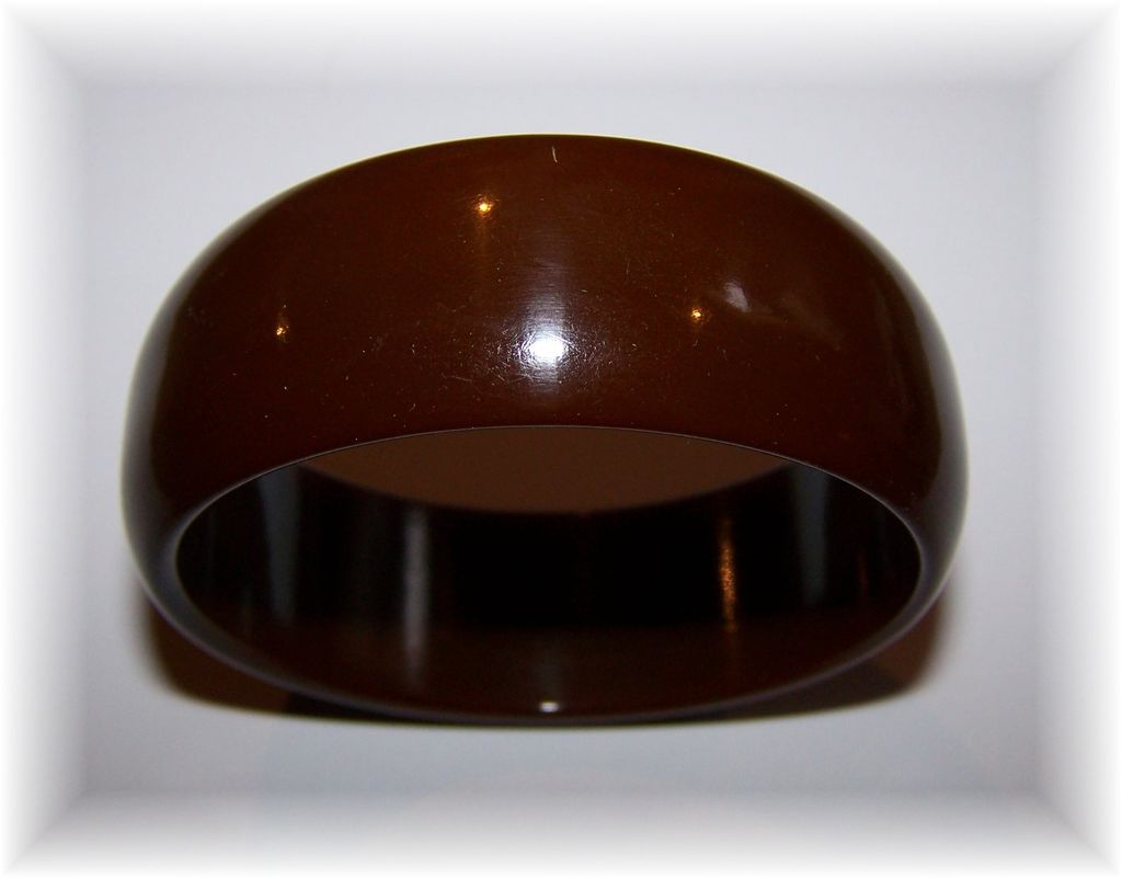 Chunky Brown Vintage Bakelite Bangle Bracelet Tests Positive