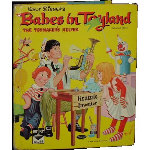 Babes In Toyland Walt Disney Whitman Children's Book C. 1961