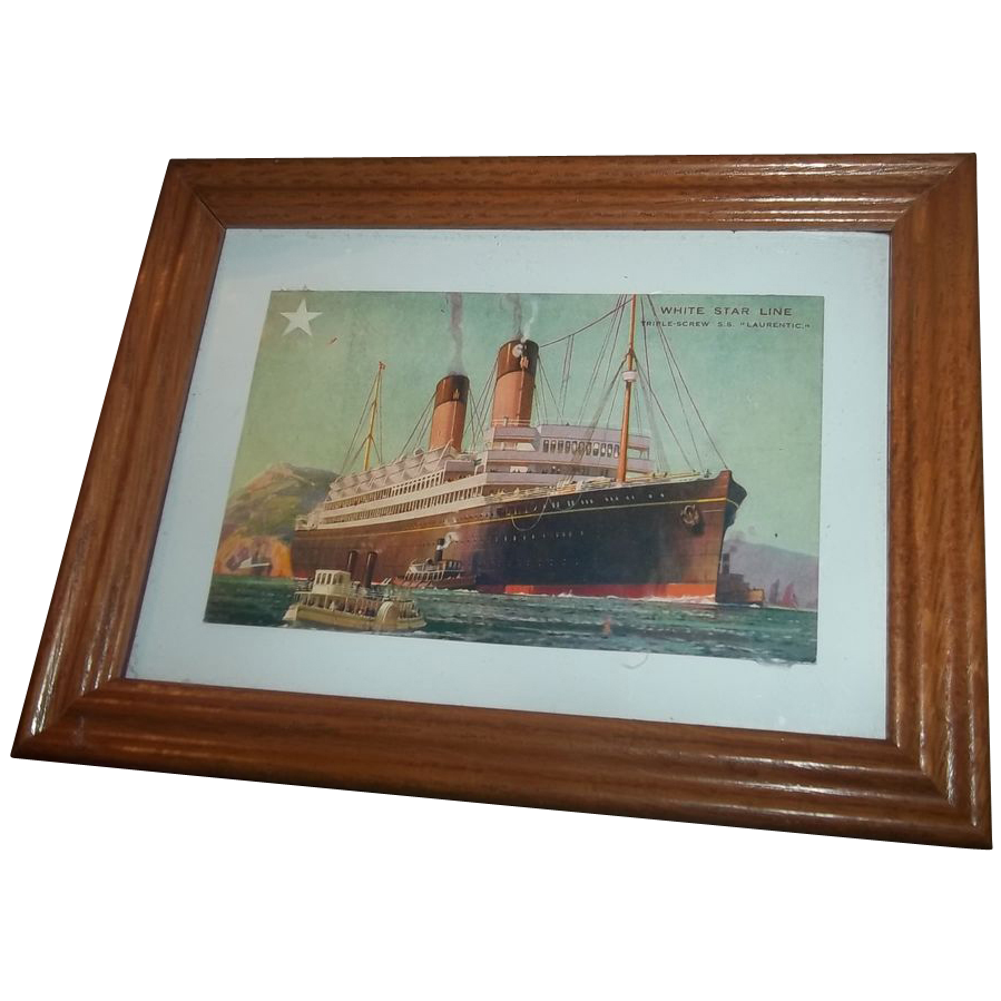Historical vintage post card white star line s s laurentic for L furniture warehouse victoria bc