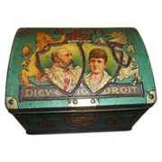 Vintage Advertising Tin Chest Trunk Coronation 1902