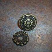 Vintage Brass Cabinet Dresser Pull Knob