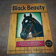 A Charming Hard Cover Children's Book Black Beauty C. 1949 HORSE