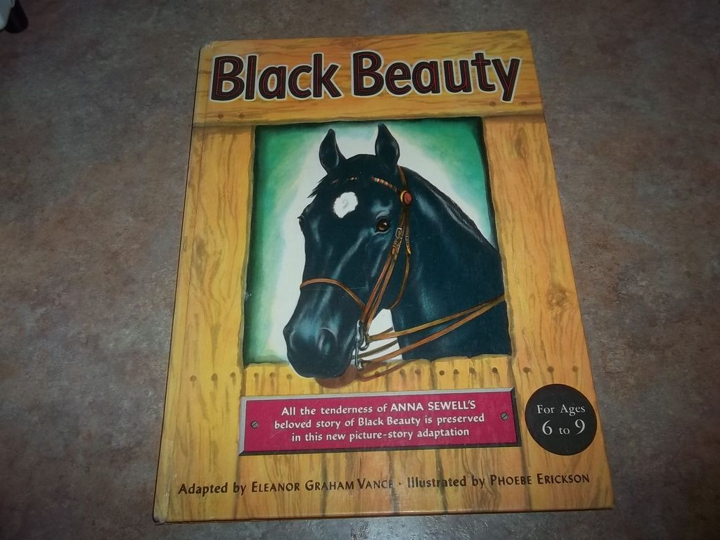 Hard Cover Children's Book Black Beauty C. 1949 HORSE