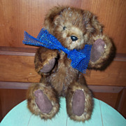 Jointed Real Muskrat Fur Teddy Bear Puddin