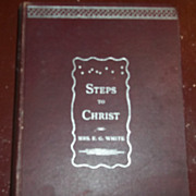 Vintage Religious Book Steps To Christ by Mrs. E.G. White