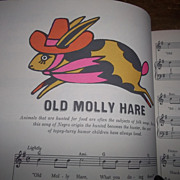 """A Vintage Children's Song Book """" The Fireside Book Of Children's Songs """""""