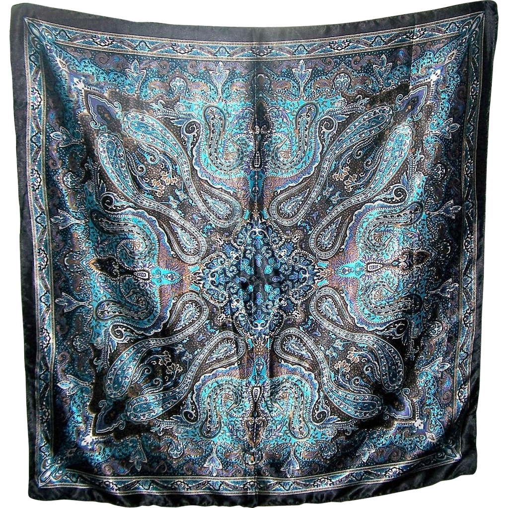A Wonderful Large 33 inches square Wild Paisley Ladies Fashion  Scarf
