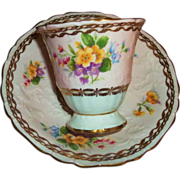 Charming Cabinet Tea Cup & Saucer Bowl Foley Floral
