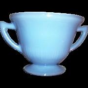 Vintage Blue Delphite Pie Crust  Sugar Bowl   Pyrex