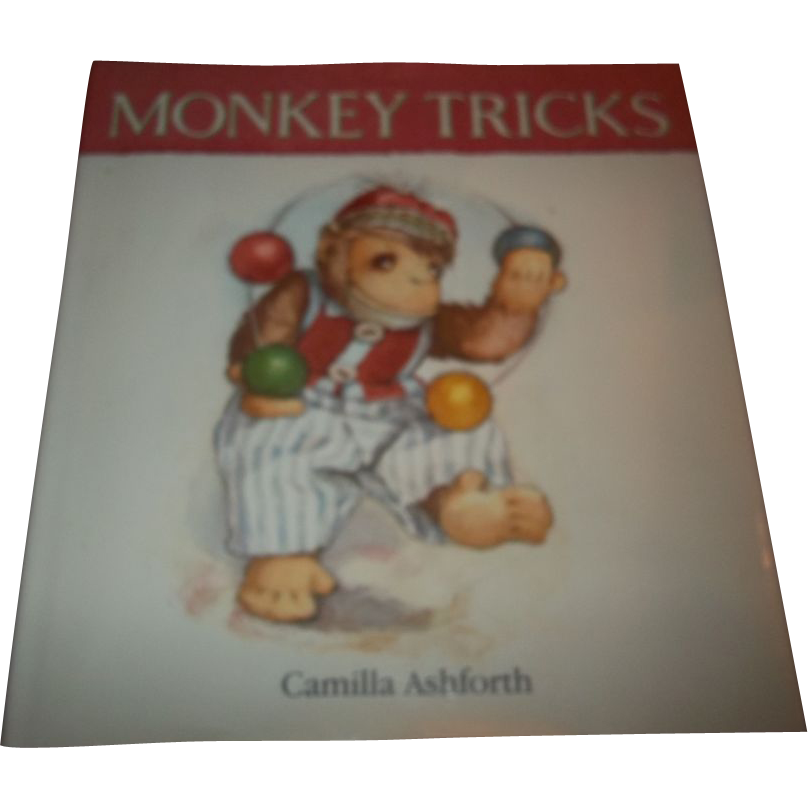 A Charming Children's Book Monkey Tricks Camilla Ashforth