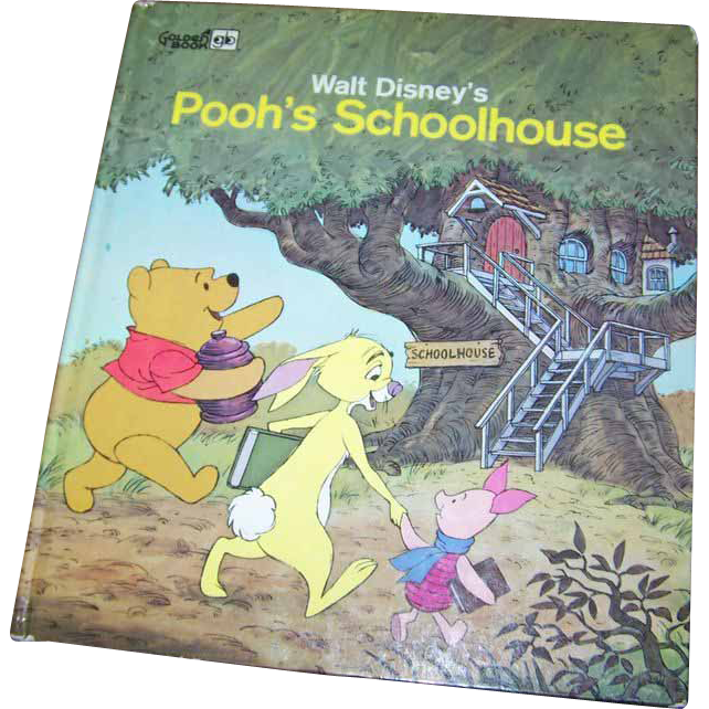 "Children's Book  Walt Disney's "" Pooh's Schoolhouse """