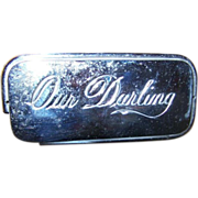 Damaged Sentimental Our Darling Casket Coffin Plate Plaque AS IS