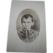 Creepy Old Postcard Real Photo Style  of Hand Drawn Charcoal Child