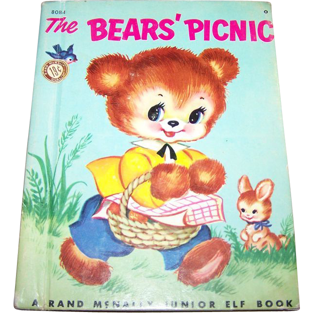 The Bear's Picnic Junior ELf Book Illustrated Charlotte Carlson