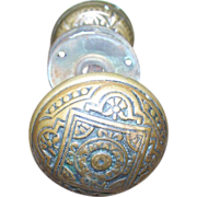 Eastlake Style Brass Door Knobs Knob Set Decorative