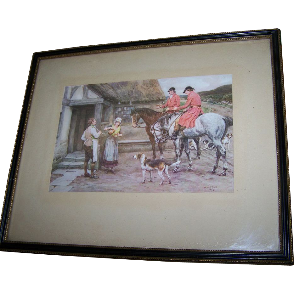 Vintage framed wall art print signed frank dadd 1924 for Vintage wall art