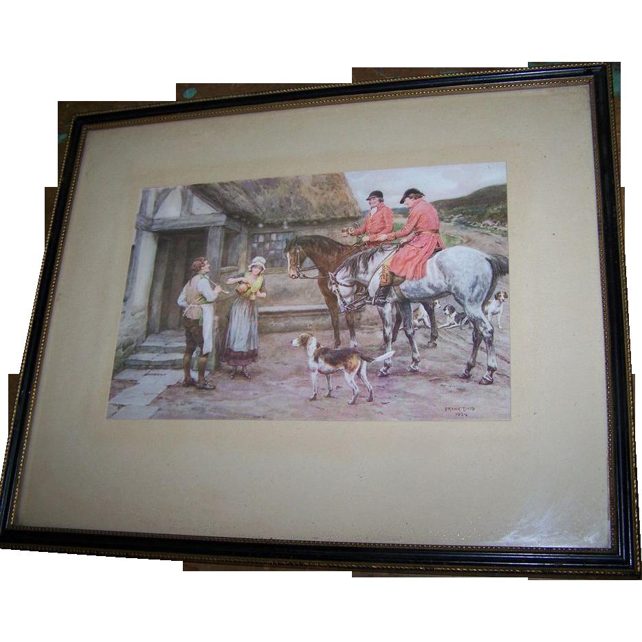 Vintage Framed Wall Art Print Signed Frank Dadd 1924