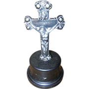 10.5 Inch Church Alter  Cross Crucifix on Stand