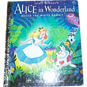 Walt Disney;s Alice In Wonderland Children's Book Golden Press