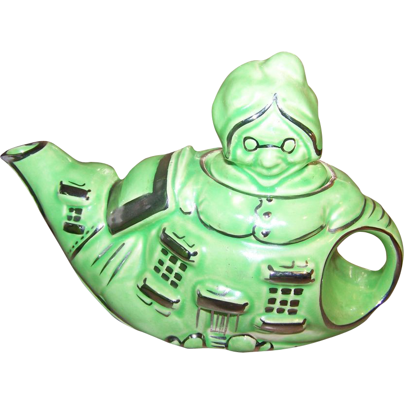 """Vintage """"There Was An Old Woman Who Lived In A Shoe LINGARD Teapot"""