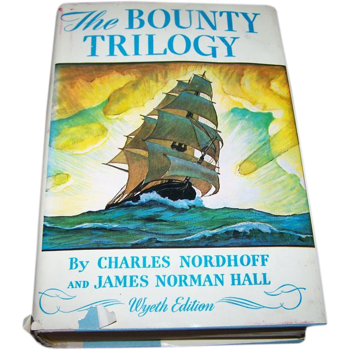Book Hard Bound The Bounty Trilogy Wyeth Edition C.1962