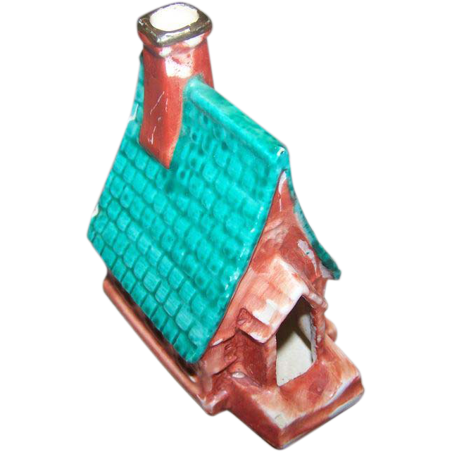 Novelty Hand Painted Ceramic Smoker Ashtray Church