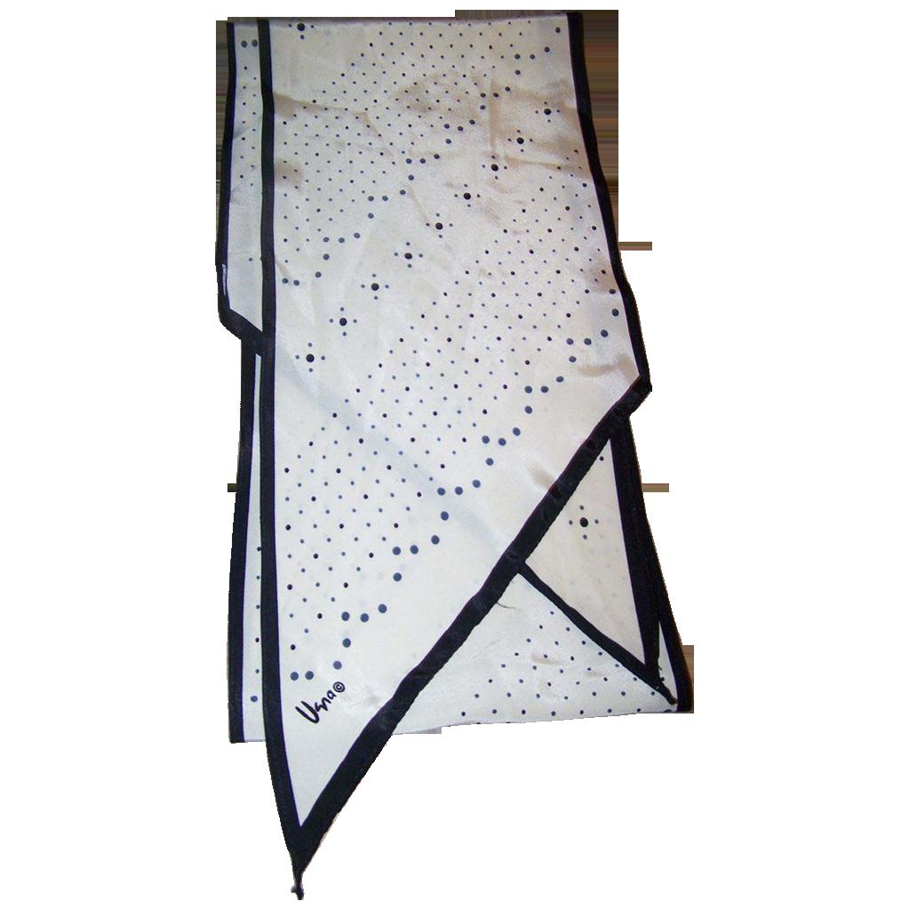A Lovely Long Rectangular Wing Tip Style Designer Signed Vera  Scarf