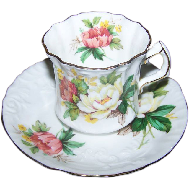 Hammersley Bone China MIE Tea Cup & Saucer Set
