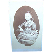 Charming Vintage Carte De Visite Young Lady