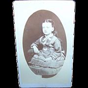 Charming Vintage Carte De Visite Young Lady