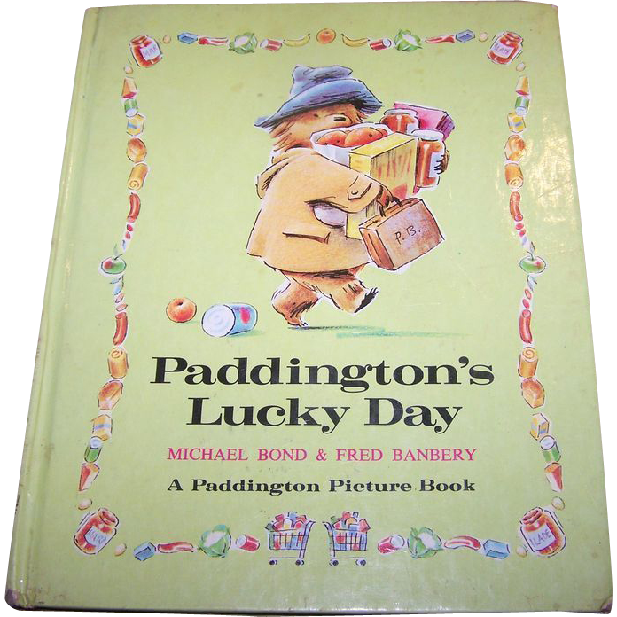 Children's Book Paddington's Lucky Day C. 1974